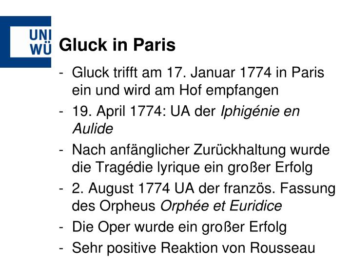 Gluck in Paris