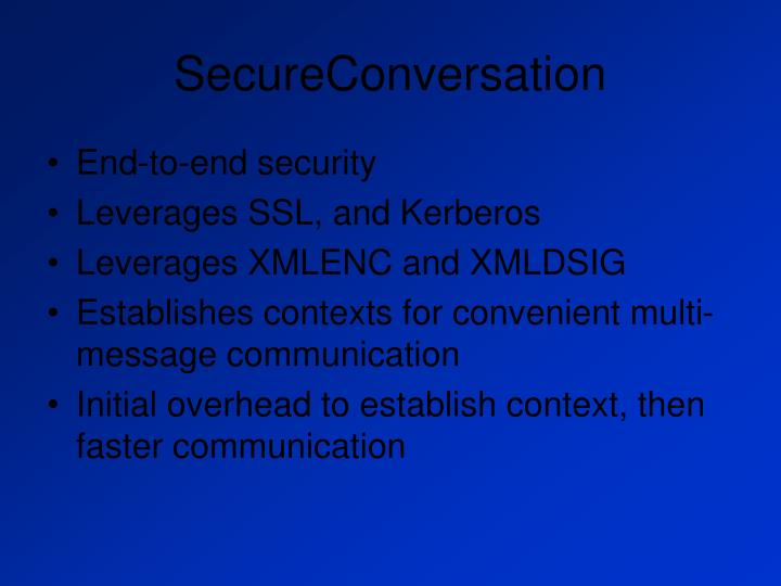 SecureConversation