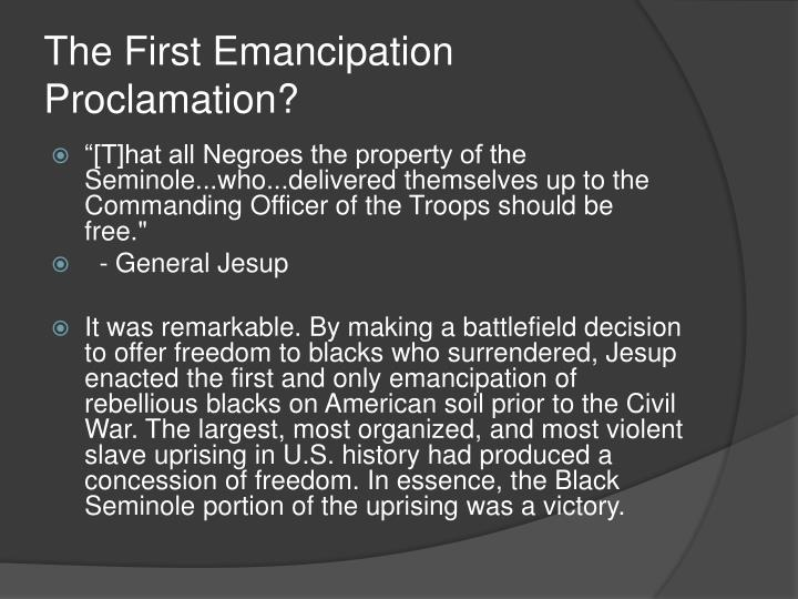 The First Emancipation Proclamation?