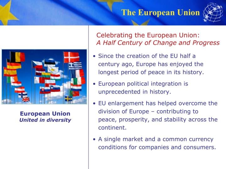 Celebrating the european union a half century of change and progress