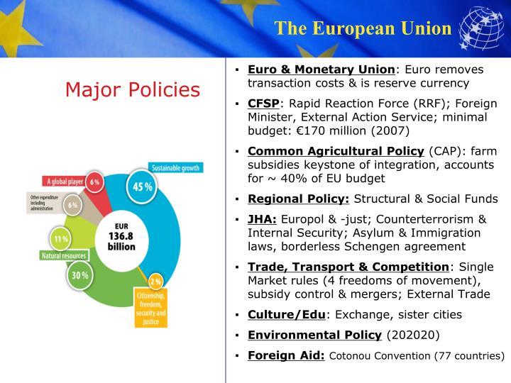 Major Policies