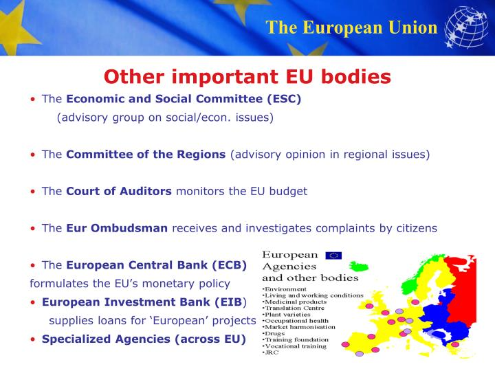 Other important EU bodies