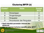 clustering bptp 3