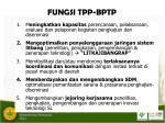 fungsi tpp bptp