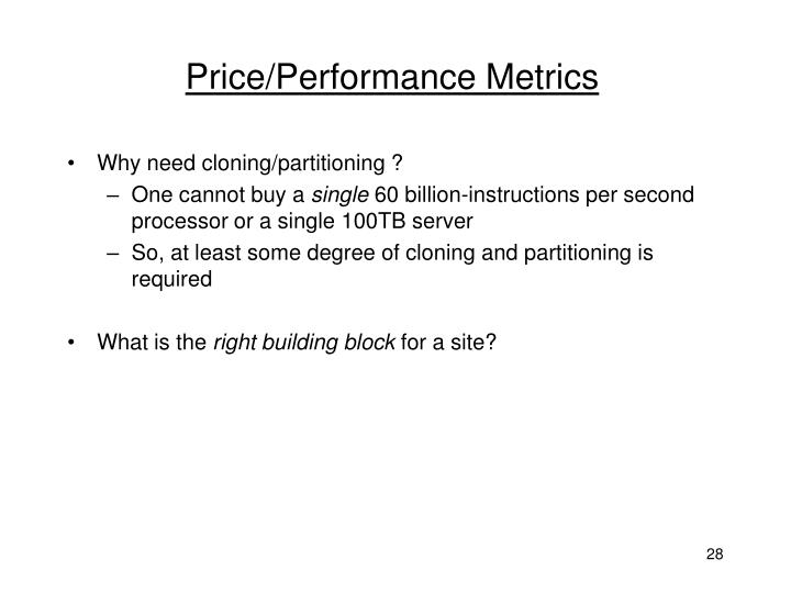 Price/Performance Metrics