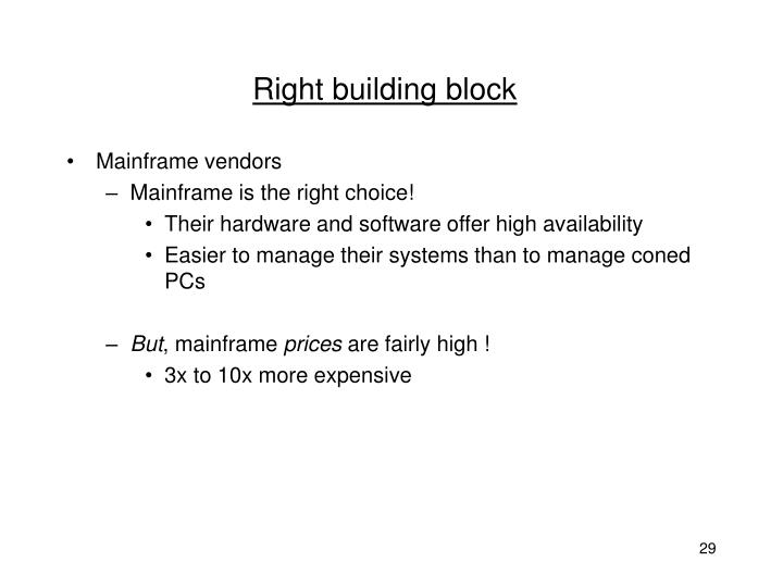Right building block
