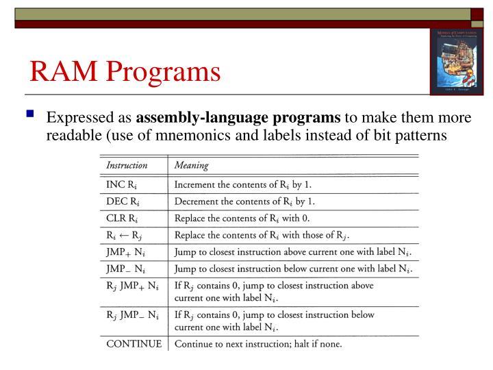 RAM Programs