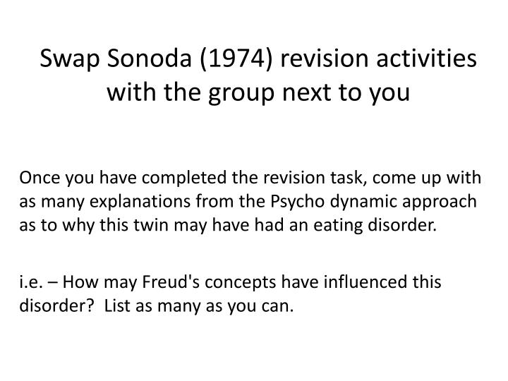 Swap sonoda 1974 revision activities with the group next to you