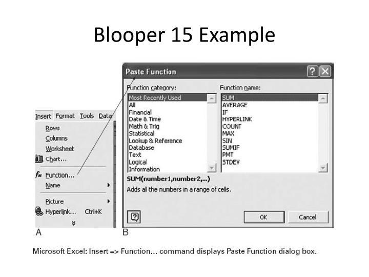 Blooper 15 Example