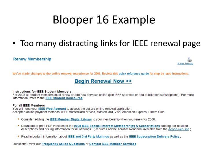Blooper 16 Example