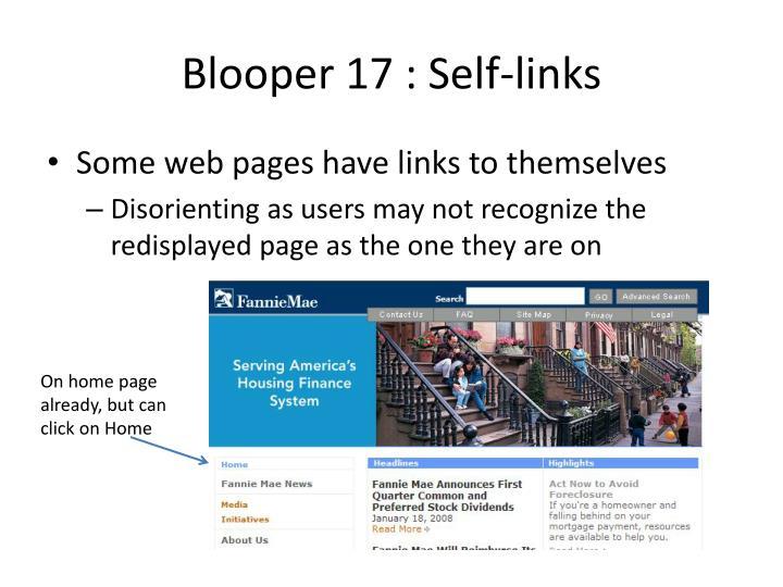 Blooper 17 : Self-links