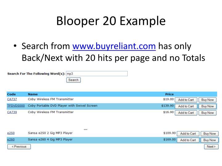 Blooper 20