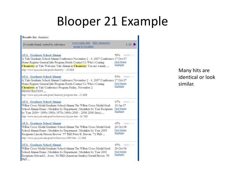 Blooper 21 Example