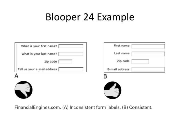 Blooper 24 Example
