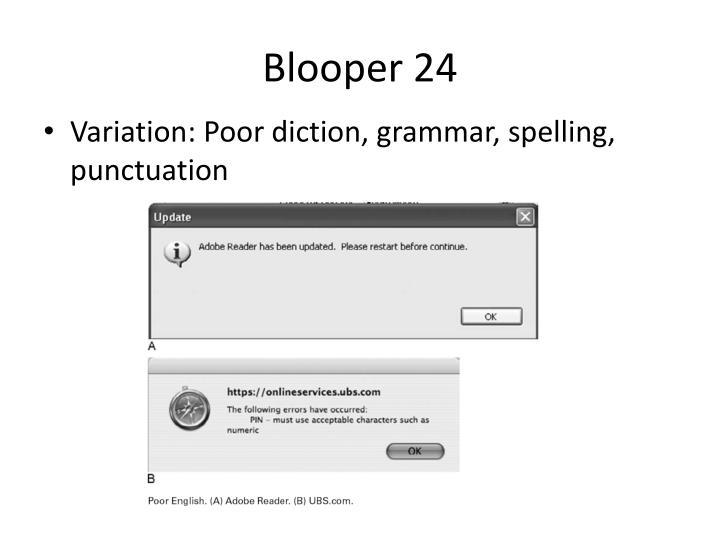 Blooper 24