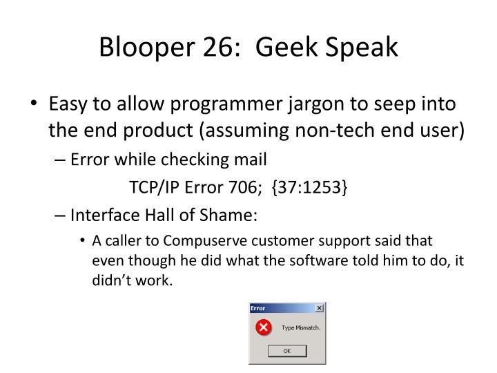 Blooper 26: