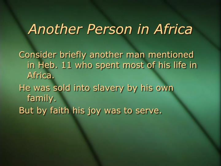 Another Person in Africa