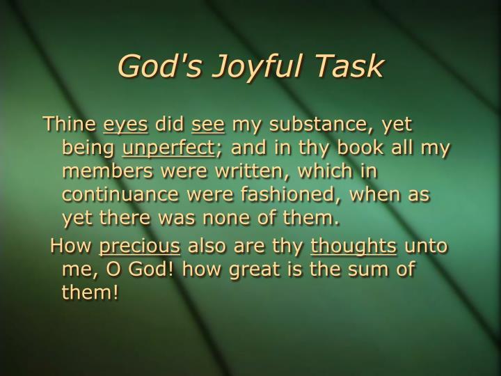 God's Joyful Task