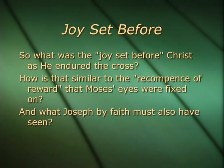Joy Set Before