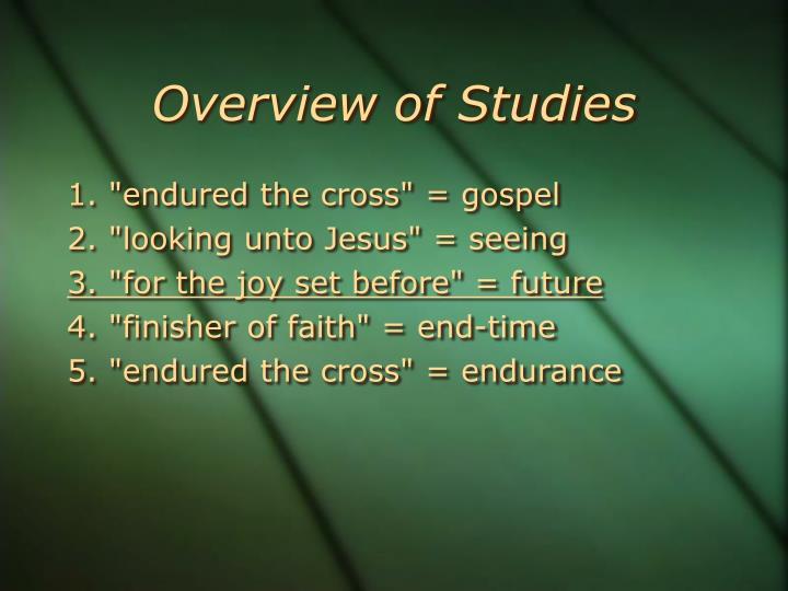 Overview of Studies