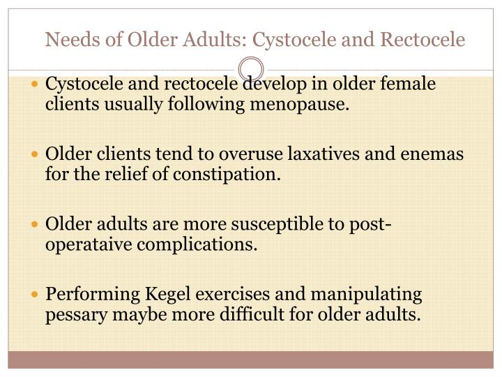 Needs of Older Adults: