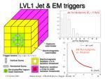 lvl1 jet em triggers