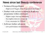 news since last beauty conference