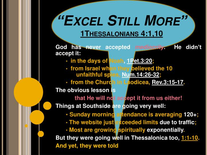 Excel still more 1thessalonians 4 1 10