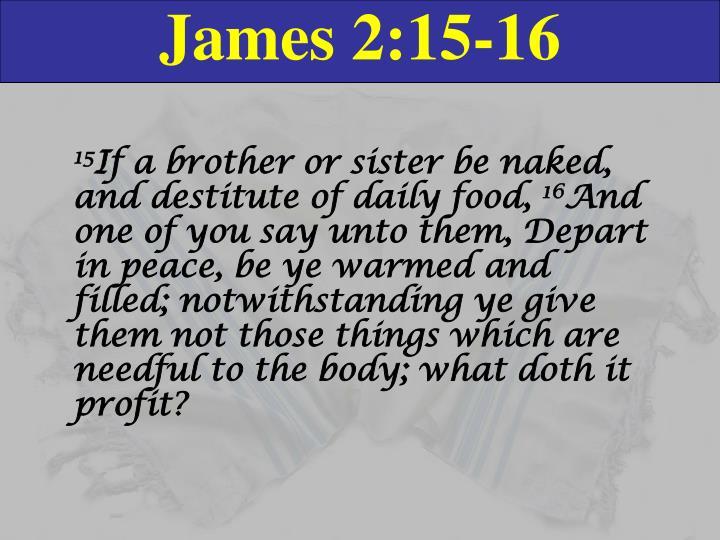 James 2:15-16