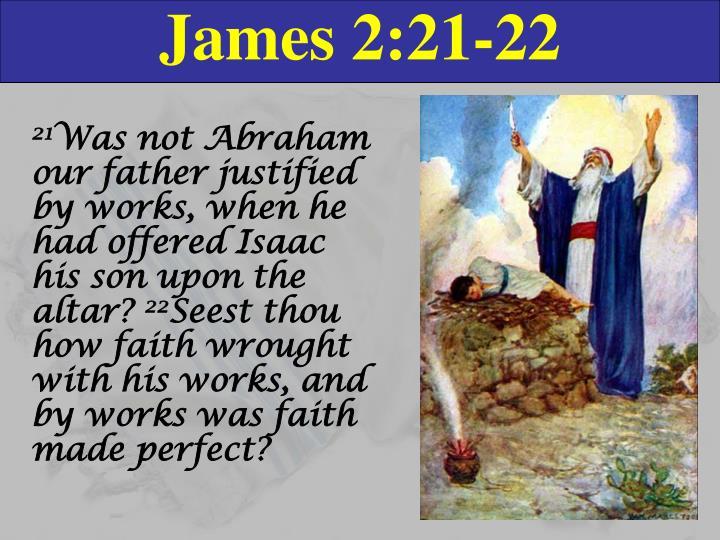 James 2:21-22
