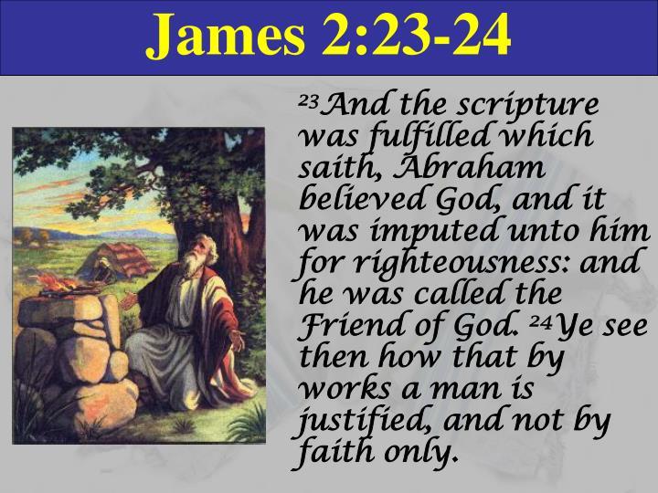 James 2:23-24