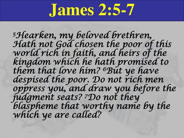 James 2:5-7