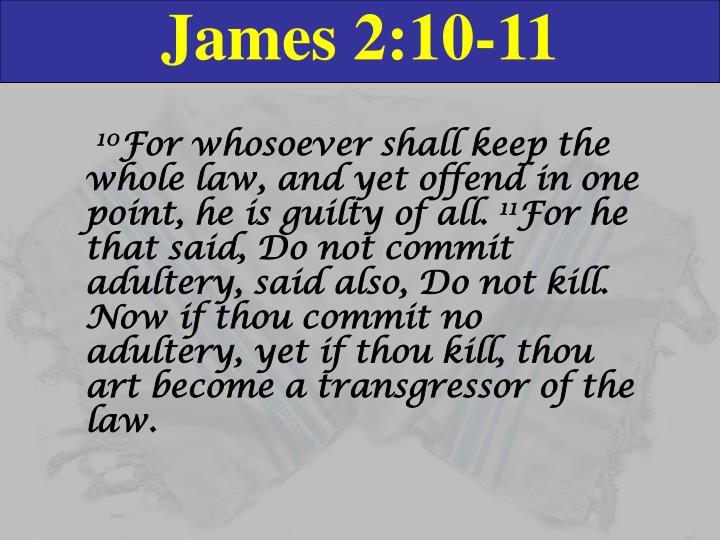 James 2:10-11
