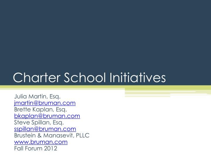Charter school initiatives