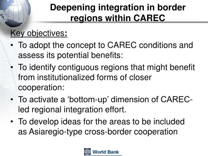 Deepening integration in border