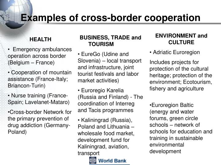 Examples of cross-border cooperation
