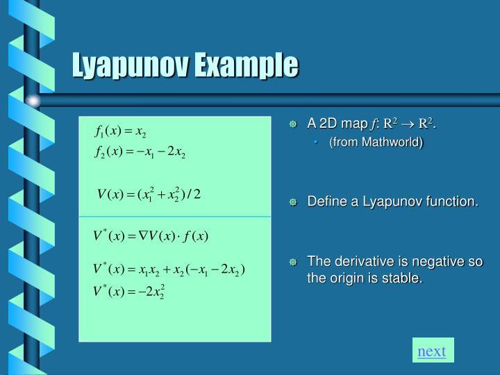 Lyapunov Example