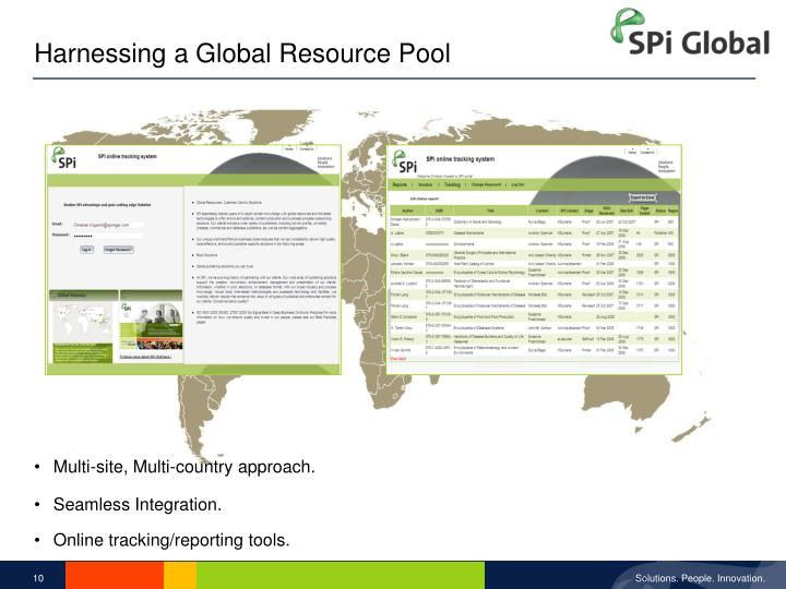 Harnessing a Global Resource Pool