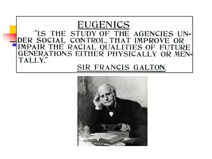 Eugenics well born