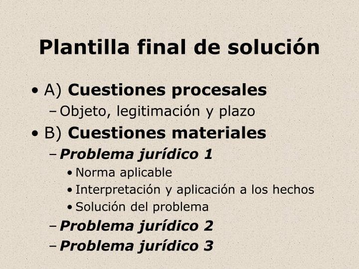 Plantilla final de solución