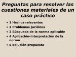 preguntas para resolver las cuestiones materiales de un caso pr ctico