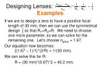 designing lenses examples