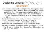designing lenses examples1