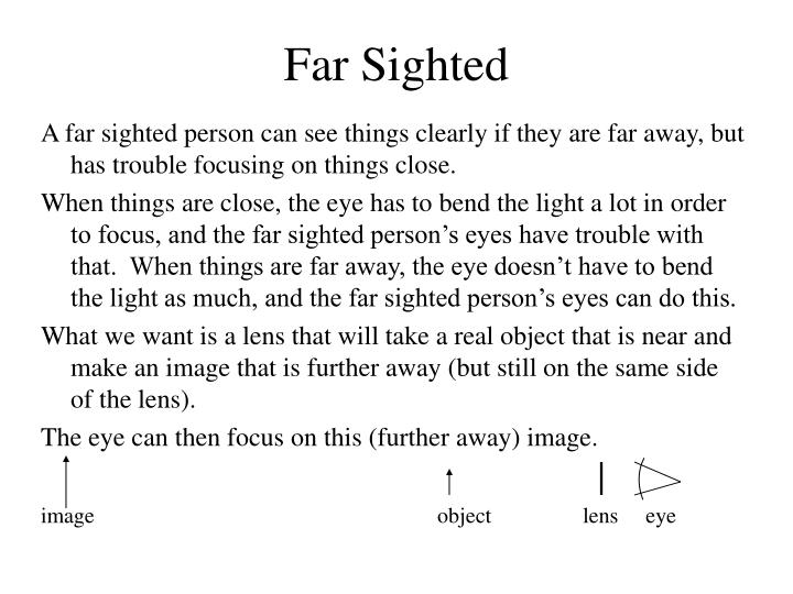 Far Sighted