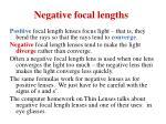 negative focal lengths
