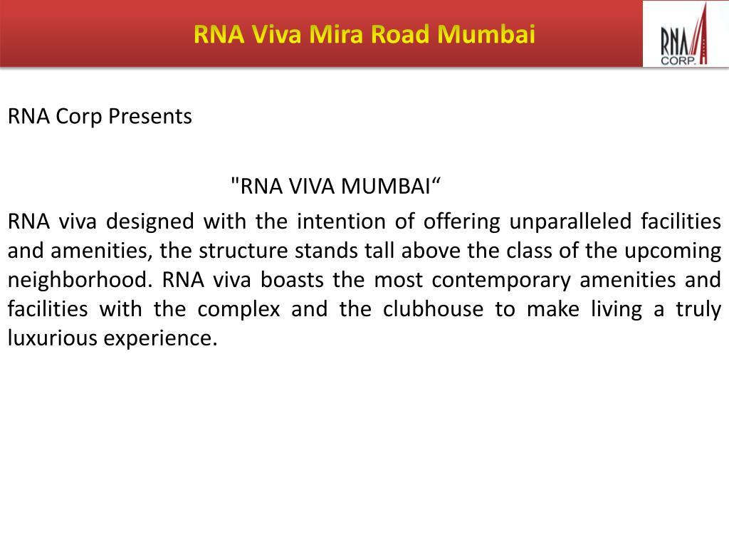 RNA Viva Mira Road Mumbai
