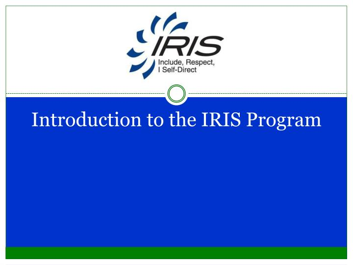 Introduction to the iris program