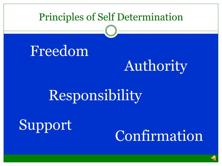 Principles of Self Determination