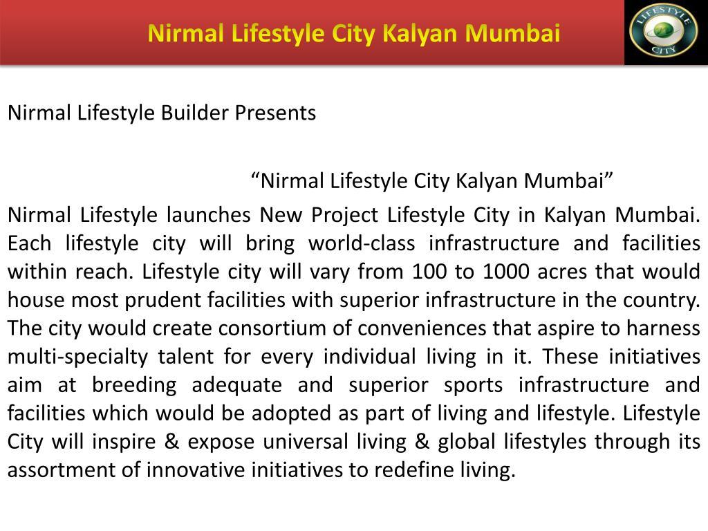 Nirmal Lifestyle City Kalyan Mumbai