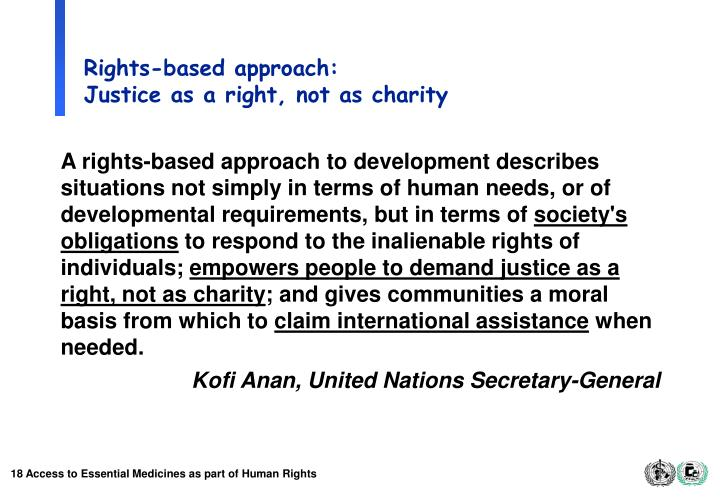 Rights-based approach: